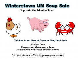 2016 Soup Sale to Support the Mission Team